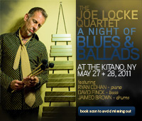 The Joe Locke Quartet live at the Kitano