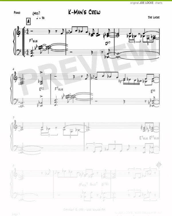 Joe Locke - K-Man's Crew sheet music