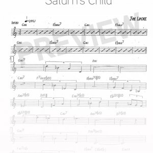 Joe Locke - Saturn's Child sheet music