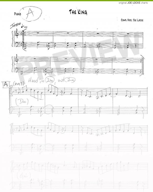 Joe Locke - The King (for T.M.) sheet music