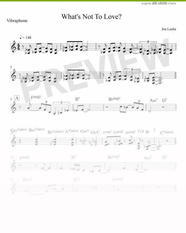 Joe Locke - What's Not To Love sheet music