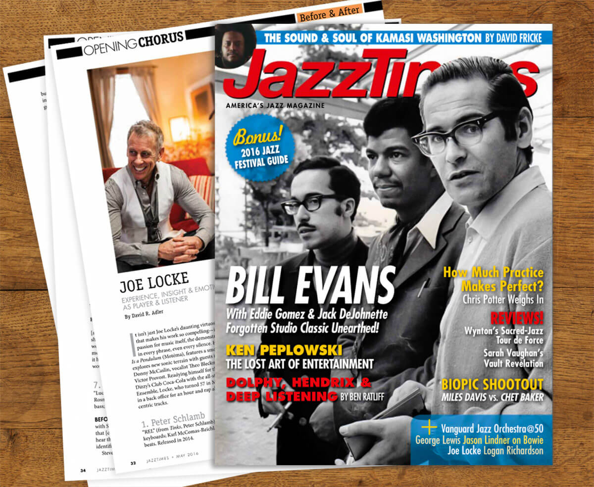 Joe Locke JazzTimes 'Before & After' May 2016