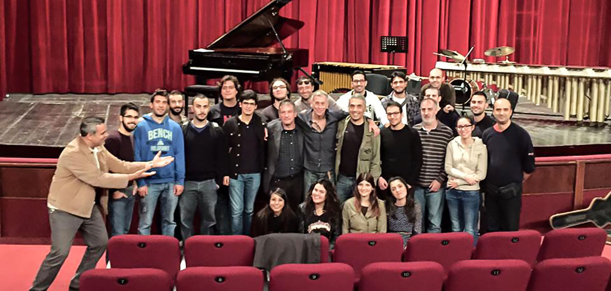 With Students in Cagliary, Italy, 2015